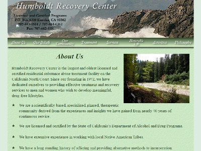 Humboldt Recovery Center Inc 944 North Street and 1219 10th Street