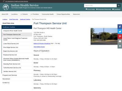 Fort Thompson Service Unit 1323 BIA Route 4
