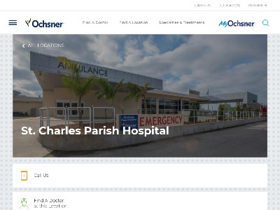 Saint Charles Parish Hospital 1057 Paul Maillard Road